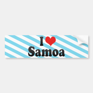 I Love Samoa Bumper Sticker
