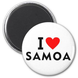 I love Samoa country like heart travel tourism Magnet