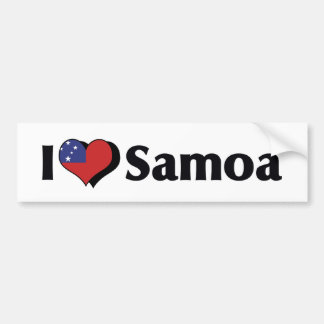 I Love Samoa Flag Bumper Sticker