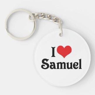 I Love Samuel Single-Sided Round Acrylic Keychain
