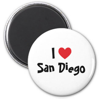 I Love San Diego 2 Inch Round Magnet