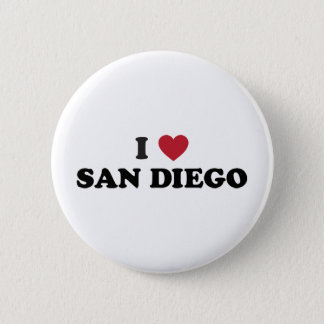 I Love San Diego California 2 Inch Round Button
