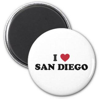 I Love San Diego California 2 Inch Round Magnet