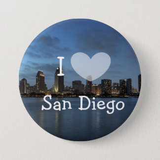 I Love San Diego California Button