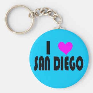I Love San Diego California USA keychain