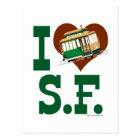 I love San Francisco Cable Cars Postcard