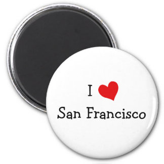 I Love San Francisco 2 Inch Round Magnet