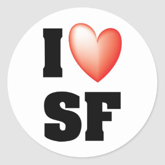 I Love San Francisco Round Sticker