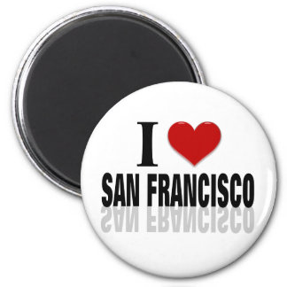 I Love San Franciso 2 Inch Round Magnet