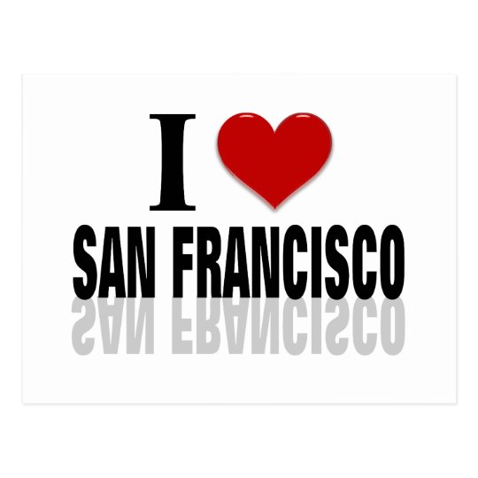I Love San Franciso Postcard