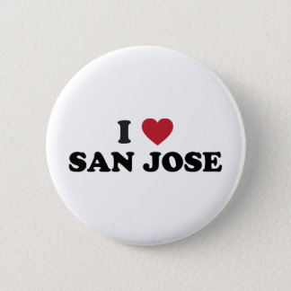 I Love San Jose 2 Inch Round Button
