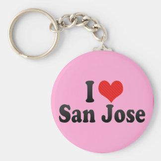 I Love San Jose Keychain