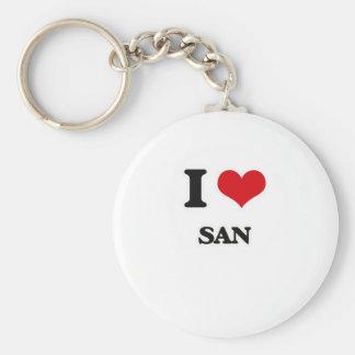 I Love San Keychain
