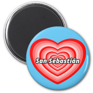I love San Sebastian 2 Inch Round Magnet