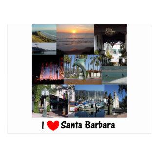 i love santa barbara.png postcard
