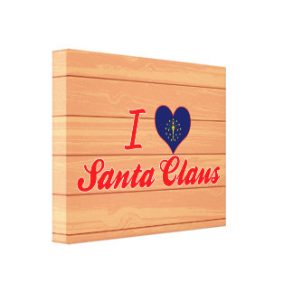 I Love Santa Claus, Indiana Gallery Wrap Canvas