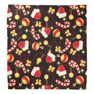 I love Santa seamless pattern black.ai Bandana