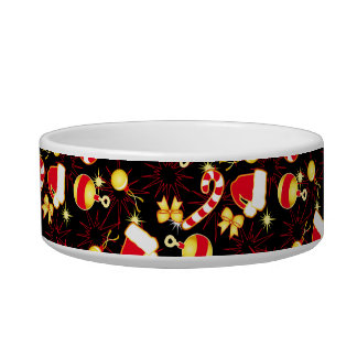 I love Santa seamless pattern black.ai Bowl