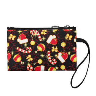 I love Santa seamless pattern black.ai Coin Purse