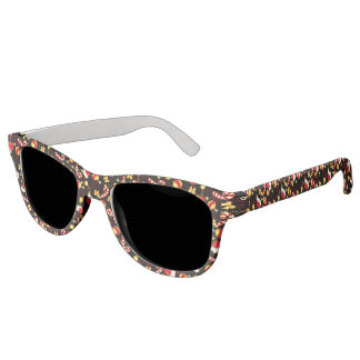 I love Santa seamless pattern black.ai Sunglasses