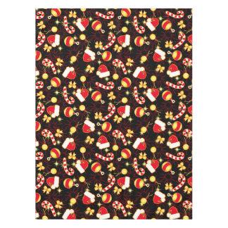 I love Santa seamless pattern black.ai Tablecloth