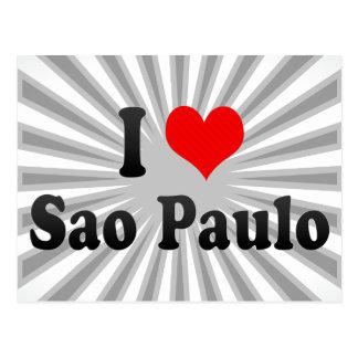 I Love Sao Paulo, Brazil Postcard