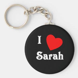 I Love Sarah Keychains