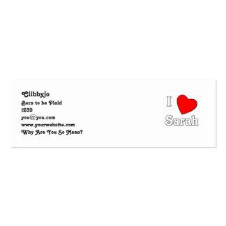 I Love Sarah Pack Of Skinny Business Cards