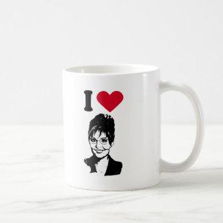 I Love Sarah Palin / I Heart Sarah Palin Coffee Mug
