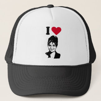 I LOVE SARAH PALIN TRUCKER HAT