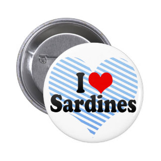 I Love Sardines Buttons