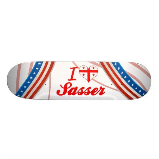 I Love Sasser, Georgia Custom Skate Board