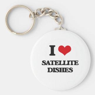 I love Satellite Dishes Keychain