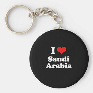 I Love Saudi Arabia Tshirt Basic Round Button Keychain