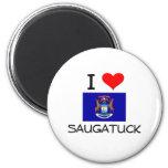 I Love Saugatuck Michigan Fridge Magnets