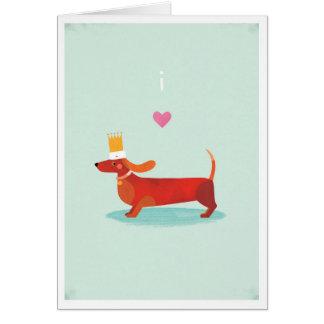 I Love Sausage Dogs Card