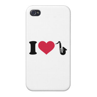 I love Saxophone iPhone 4 Case