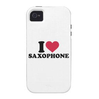 I love Saxophone Vibe iPhone 4 Case