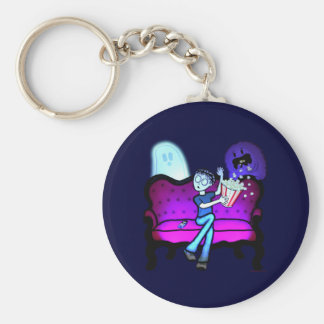 I Love Scary Movies Keychains