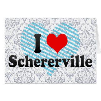 I Love Schererville, United States Card