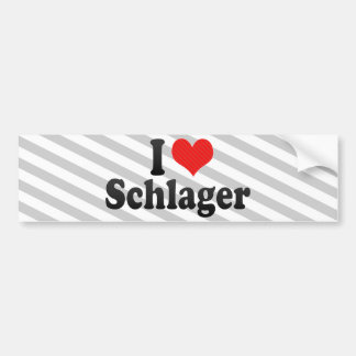I Love Schlager Bumper Sticker