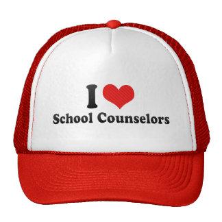 I Love School Counselors Mesh Hats