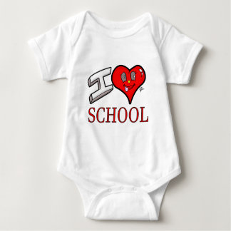 I Love School Design for Learners and Educators Baby Bodysuit