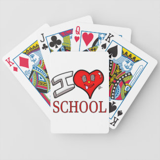 I Love School Design for Learners and Educators Bicycle Playing Cards