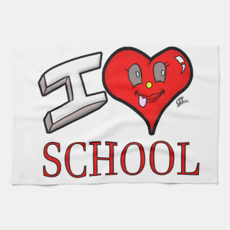 I Love School Design for Learners and Educators Kitchen Towel