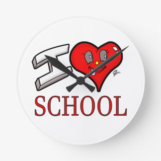 I Love School Design for Learners and Educators Wallclock