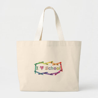 I Love School Large Tote Bag