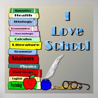 I Love School Poster
