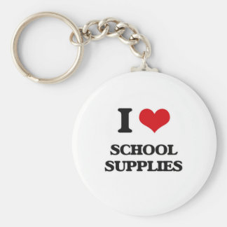 I Love School Supplies Keychain