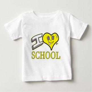 i love school yellow school bus edition baby T-Shirt